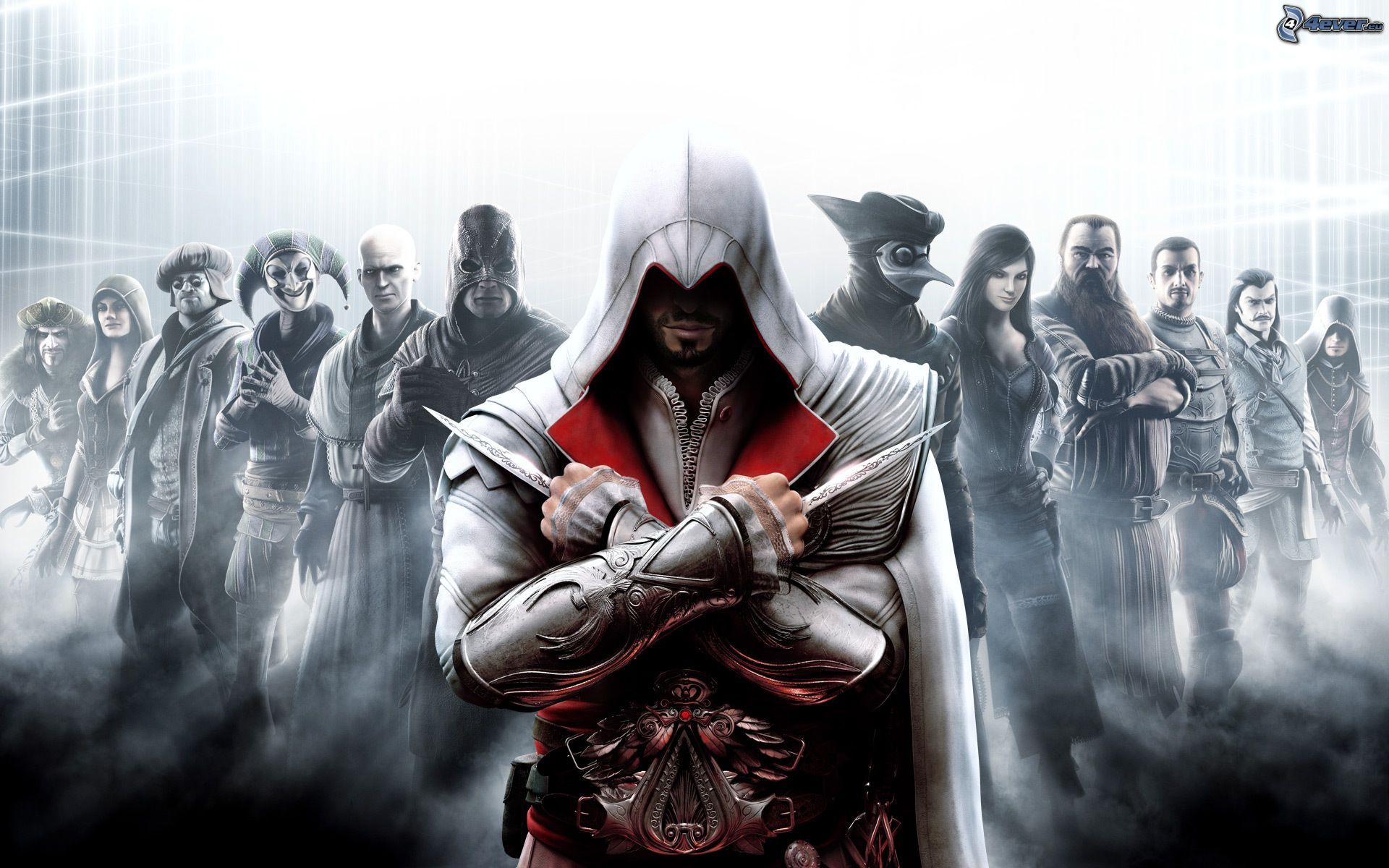 Assassins creed brotherhood nobleman smuggler engineer harlequin priest executioner ezio auditore da firenze the doctor courtesan blacksmith captain barber prowler 148841