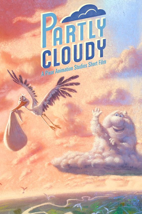 Disney pixar affiche partly cloudy passage nuageux