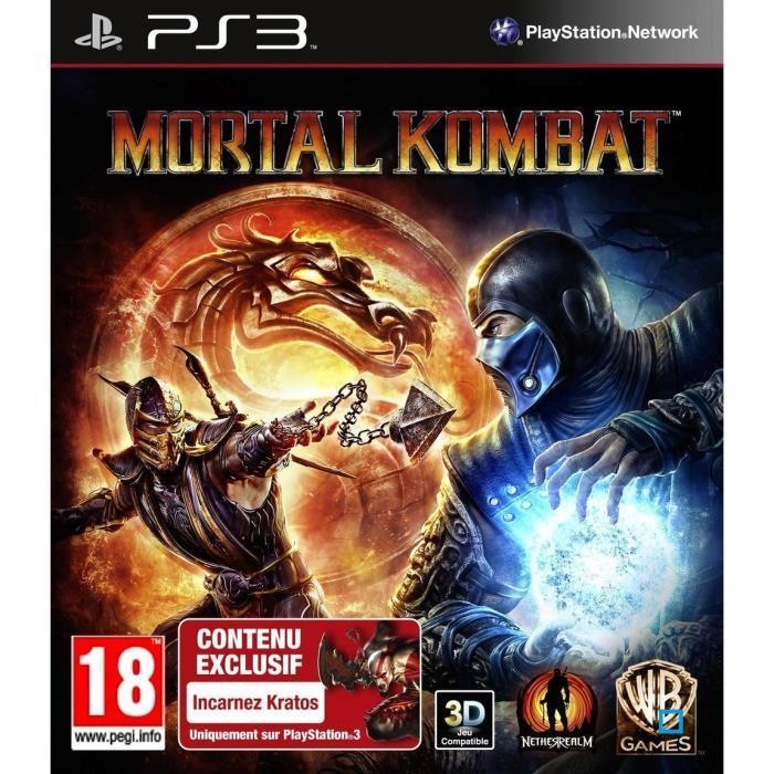 Mortal kombat jeu console ps3